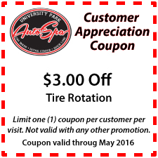 $3 Off Tire Rotation